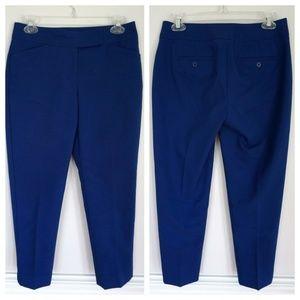 TALBOTS Curvy Blue Capris Cropped Pants Size 2P